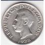 Ecuador, Antigua Moneda De Plata 0,720 Un Sucre 1928