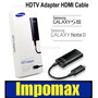 Impomax Adaptador Hdmi Hdtv Sansung Galaxy S3 Note 2 Tv Led