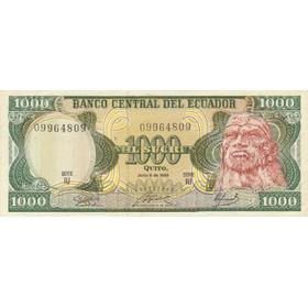 Ecuador,  Billete De 1000 Sucres 1.988 Iu