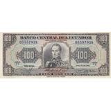Ecuador, Antiguo Billete De 100 Sucres 1.980  Uy
