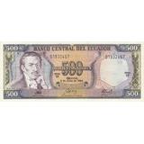 Ecuador,  Billete De 500 Sucres 1.988 Gx