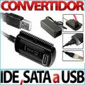 Adaptador Usb A Sata E Ide 2.5 Y 3.5 Pulgadas Con Fuente
