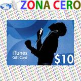 Código Tarjetas Itunes, Apps, Mac De $10 De Apple Store Usa