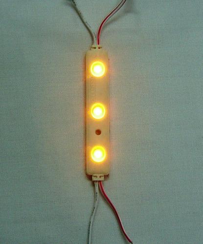 Modulo de luz led color amarillo 3 luces tama o peque o - Luces led de colores ...