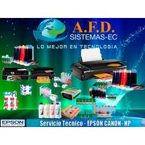Servicio Técnico Para Sistemas De Tinta Continua Canon,epson