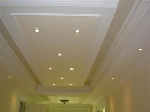 Gypsum cielo raso empaste pintura casas oficina for Modelos de cielo raso para salas