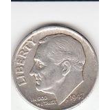 Eeuu, Antigua Moneda De Plata 0,900 10 Ctvs. 1.947