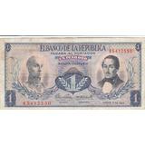 Colombia, Antiguo Billete Coleccionable 1 Peso 1.969