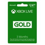 Xbox Live Gold 3 Meses Código Canjeable
