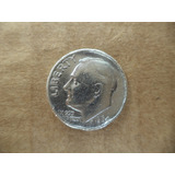 Antigua Moneda Usa One Dime 1964 Plata