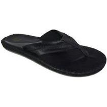 Quiksilver Sandalias De Cuero Color Negro Talla 9 =a 26cm