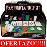 Set De Pocker Profesional Texas Hold Em 200 Fichas