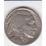 Eeuu, Antigua Moneda De Nickel Cinco Centavos Indio 1.936