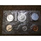 Eeuu, Coleccion De Monedas Plata Y Nickel, 1.964