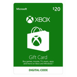 Xbox Live Gift Card $20 De Saldo Para Xbox 360 One