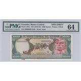 Billete Certificado Pmg 64i!1000 Sucres 1976 Serie Ab - Mues