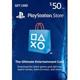 Playstation Network $50 Tarjeta Prepago Gift Card Usa Psn 50