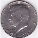 Moneda De Estados Unidos! Medio Dolar  1976