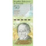 Venezuela, Antiguo Billete De 50 Bolívares 2007 Buen Estado