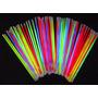 Glow Sticks Pulceras Brazaletes Luminosos Neon 100 Unidades