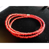 Collar Tira Coralina Roja Muy Fashion