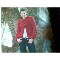 Saco Rojo De Mujer Tejido A Mano