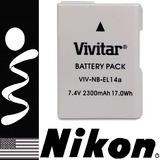 Bateria En-el14a Para Camara Nikon D5300 5500 5200 3300 3200
