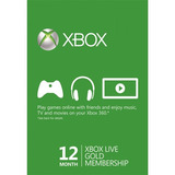 Xbox Live Gold 12 Meses 1año Multiregion