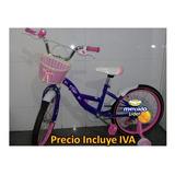 Bicicleta Niñas Aro 16 20 Rosada Con Rueda Posterior Niños