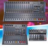 Consola Mixer Italy Audio 4,6,12,16 Canales Usb Bt Efectos