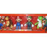 Set 4 Muñecos Figuras Mario Bros Luigi Donkey Kong Yoshi