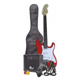 Combo Guitarra Electrica Orich + Bajo + Afinador + Estuche