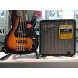Kit Bajo Electrico Squier  Fender + Amplif Fender Rumble 15