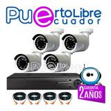 Kit 4 Camaras Vigilancia Seguridad + Full Color + Completas