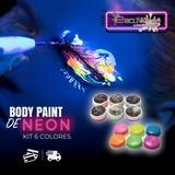 Pinturas De Neón (corporal) Kit De 6 Colores