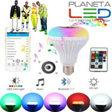 Foco Parlante Bluetooth Multicolor Led Inteligente+control