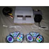 Consola De Super Nintendo Completa Y Funcional