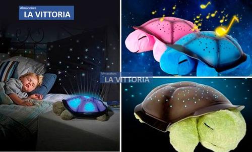 Lampara Grande Tortuga Proyector Estrellas Led  Musical