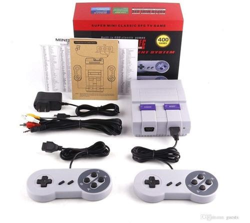 Mini Consola Tipo Super Nintendo Clasico Con 400 Juegos
