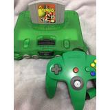 Nintendo 64 Verde Con Mario Tennis Palanca Y Cables