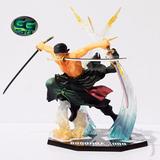 Zoro Battle Version One Piece Figura 18cm/100% Nueva En Caja