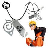 Collar Aldea De Hoja Naruto 5 Cm Largo / 100% Nuevo