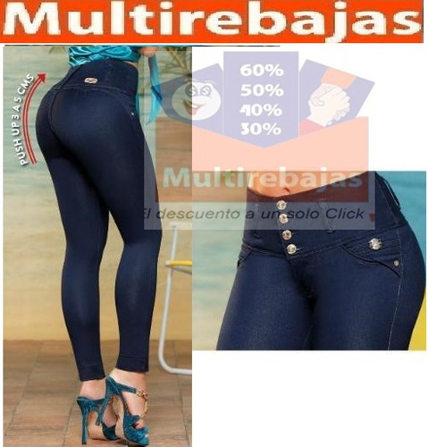 73b9c5b9a Jeans Levanta Cola Importados Super Altos 4 O 5 Botones