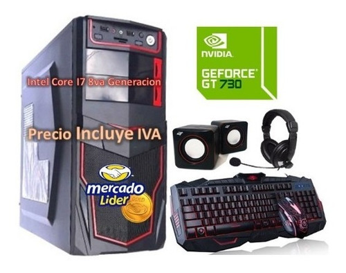 Cpu Gamer Intel Core I7 8va Gen 2tb 16gb Gt-730 4gb Computad