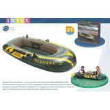 Bote Inflable Intex Seahawk + Remos + Inflador  Cm236x114x41