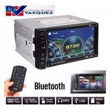 Radio Pantalla 7'' 2 Din Touch Bluetoth Mp5 Usb Fm Aux Sd Tv
