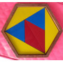 Juego Didactico Hexagono Triangulos De Madera En Colores