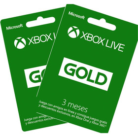 Xbox Live Gold 3 Meses Y Gift Cards $5 $10 $20 $60 Codigos