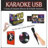 Karaoke Usb 7700 Temas  Luces Microfono Inalambrico Listado