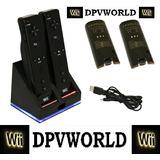 Cargador Controles Wii + 2*2800mahbaterias Recargables Negro